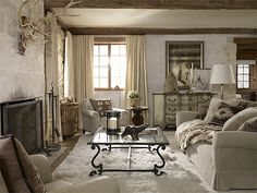 Ralph Lauren Home Alpinelodge Interior Exterior Chalet French Room
