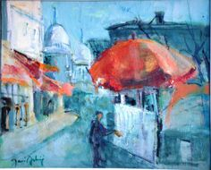 #AstrieJosé (1927) #Montmartre. #Paris. Oil on canvas, signed lower left, countersigned and titled on the reverse.