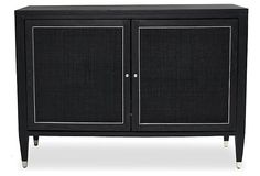 Henley Bar Cabinet, Onyx | One Kings Lane