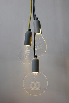 Flat bulbs...I want one! $55.00 on DesignBoom.com