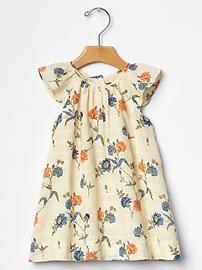 Floral flutter dress would be cute with a brown cardi! Baby Girl Dresses, Cute Dresses, Girl Outfits, Cute Outfits, Baby Kids Clothes, Boy Fashion, Toddler Girl, What To Wear, Kids Fashion