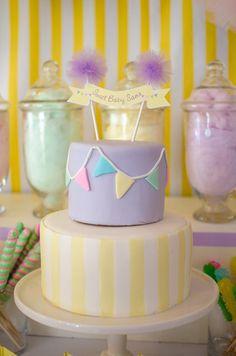 Cake at a Pastel Baby Shower #pastel #babyshowercake