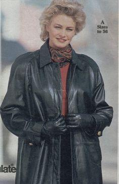 Long Leather Coat, Leather Gloves, Leather Jacket, Vintage Leather, Elegant, Skirts, Compact, Jackets, Woman