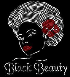 Strong Black Woman Queen Diva Hotfix Iron On Rhinestone Shirt Transfer
