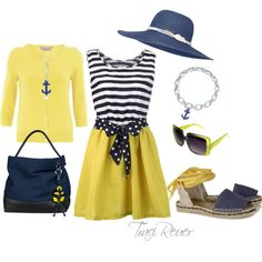 A Day on the Yacht, created by tracireuer on Polyvore
