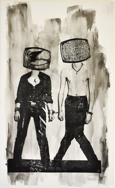 1stdibs | TV Heads (Black and White)