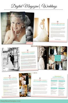 INSTANT DOWNLOAD Weddings, Professionally Written Digital Magazine Template for Photographers - WM101