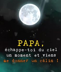 Papa échappe toi du #ciel un #moment et viens me #donner un #câlin ! I Miss My Dad, Tu Me Manques, Life Philosophy, Jesus Loves, Peace And Love, Affirmations, Quotations, Meditation, Messages
