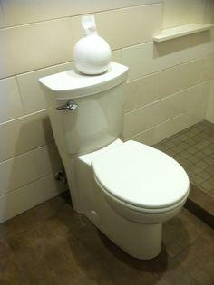 Toilet & TP pot. Master Bathroom, Toilet, Sink, Sink Tops, Master Bath, Flush Toilet, Vessel Sink, Vanity Basin, Master Bathrooms