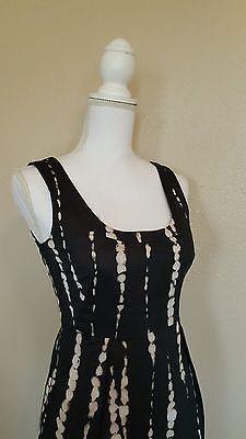Ann Taylor Sleeveless Black White Dots Line Dress Size 2P