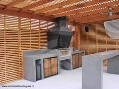 Outdoor Bbq Kitchen, Backyard Kitchen, Outdoor Fire, Outdoor Living, Outdoor Decor, Barbeque Design, Outdoor Grill Station, Pergola, Outside Patio