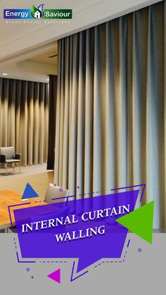 Air infiltration is the air which passes through the curtain wall from the exterior to the interior of the building. The air is infiltrated through the gaskets, through... #curtainwalldetails #glasscurtainwalldetails #curtainwallinstallationdetails #unitizedcurtainwall #curtainwalldesign #curtainwallppt #sticksystemcurtainwall Internal Wall Insulation, Gas Boiler, Energy Companies, Electricity Bill, Central Heating, Wall Design, Exterior, Floor, Curtains