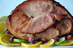 My Carolina Kitchen: Baked Ham Barefoot Contessa style How To Cook Ham, Smoked Ham, Man Food, Best Food Ever, Ham Recipes, Dinner Is Served, Pork Dishes, Food Festival, Thanksgiving Recipes