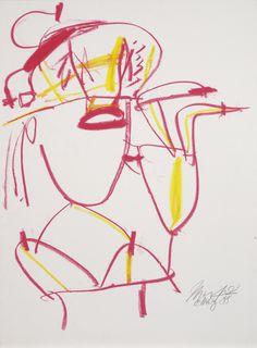 Jürgen Messensee | Porträt D. | 1988 | Albertina, Wien  #Art #Abstract #Albertina #Messensee #yellow #red #kunst Albertina Wien, Austria, Abstract Art, Neon Signs, Art