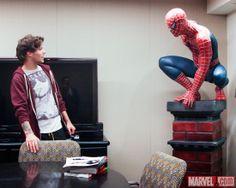 One Direction Visits Marvel - Louis Tomlinson