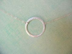 Silver Jewelry Silver Necklace Silver Circle by JulianaWJewelry