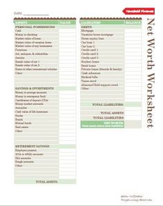 Worksheet How To Calculate Your Net Worth Worksheet 1000 images about budget worksheets on pinterest use the net worth worksheet to calculate your current worth