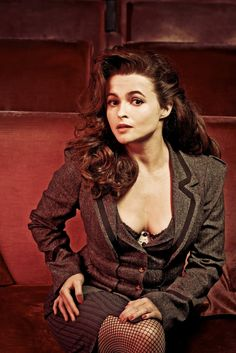 Helena Bonham Carter- She's totally insane, but she's not afraid to be herself, and she's hysterical! That's why she's one of my absolute favorite actresses!