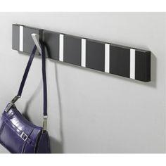 Fine Attached On Wall Knax Black Retractable Coat Hook Design.
