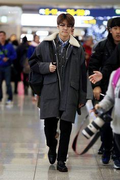 160118: EXO Oh Sehun; Incheon Airport to Manila Airport #exo #fashion #style #kfashion #kstyle #korean #kpop