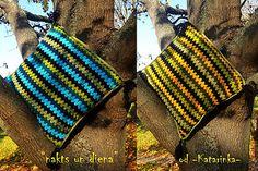 "handmade by -Katarinka- /  ""nakts un diena"" / háčkovaný vankúš - cuscino all´uncinetto - crocheted cushion"