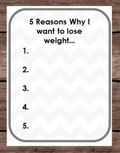 Five Reasons Weight Loss - Why I Want To Lose Weight - Goals Pounds Tracker - Binder Planner New Years Resolution -DIY PDF Digital Printable by PlayfulPrintShop