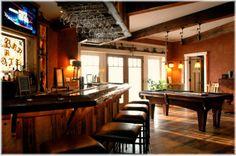 man cave basement home bar design ideas
