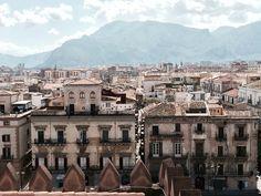 Vista sui tetti di Palermo, Sicilia
