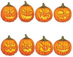Easy Spooky Jack O'Lantern Patterns