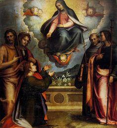 Giovanni Antonio Sogliani – Madonna della cintola con i Santi Tommaso, Giovanni Battista, Miniato, Francesco e Giacomo - Museo di S. Marco, Firenze.