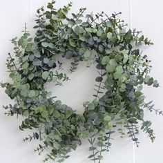 Christmas Wreath - Spiral Eucalyptus Wreath - - - Wholesale Florist Floristry Supplies Loved by Lazy Girl Official Christmas Door Wreaths, Noel Christmas, Modern Christmas, Winter Christmas, Christmas Crafts, Front Door Wreaths, Christmas Garlands, Artificial Christmas Wreaths, Hygge Christmas