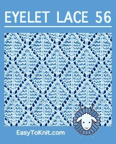 How to knit the Kite stitch in the round. It is a beautiful lace pattern. Cast on a multiple of 12 stithches. Knitting Machine Patterns, Knitting Stiches, Sweater Knitting Patterns, Loom Knitting, Baby Knitting, Knit Stitches, Knitting Tutorials, Lace Patterns, Stitch Patterns