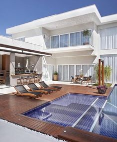 Modern home design Exterior Design, Interior And Exterior, Modern Pools, House Goals, Modern House Design, My Dream Home, Modern Architecture, Chinese Architecture, Future House