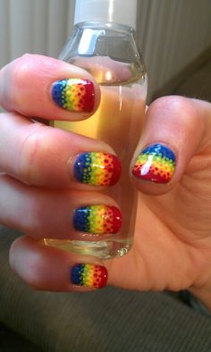 Rainbow dotted gradient (source: GeekyGasm on reddit)