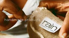 We believe in making our own products with #naturalfibers and remain labor-intensive.