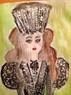 Couture Princess by Fifi & Lulu Designs  watercolor and pen