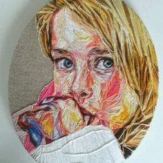 Retratos bordados de Julie Sarloutte - Esto no es arte