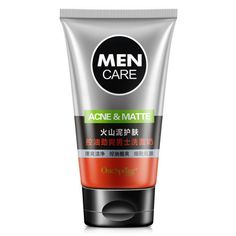 2017 Men Deep Cleansing Skin Care Facial Cleanser Whitening Acne Matte Blackhead Face Care Exfoliating Cleanser