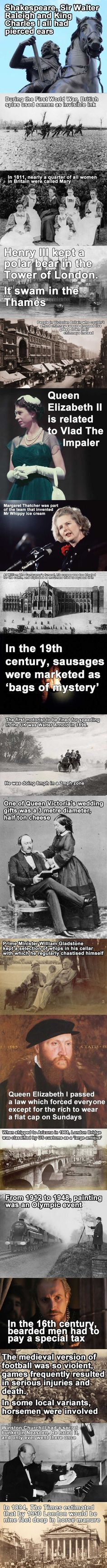 19 Facts of British History.that you probably could have lived without BUT enjoy! I love British history Cultura General, Wtf Fun Facts, Crazy Facts, Random Facts, Funny Facts, Random Stuff, Interesting History, Interesting Facts, Awesome Facts