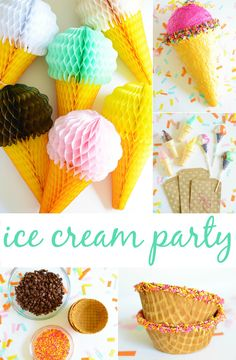 Ice Cream Party Ideas and Decor