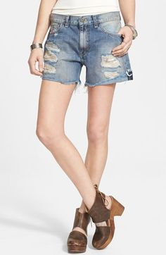 Free People Cutoff Denim Shorts (Avi Blue) available at #Nordstrom