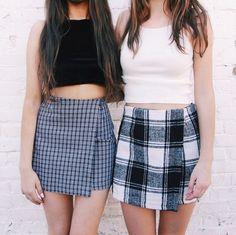 aesthetic, alternative, fashion, friends, girls, lesbian, relationship, skirt
