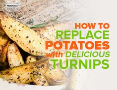 If you& avoiding white potatoes because or their high starch content try replacing them with savory turnips. Tips, tricks and recipes how to use turnips. Paleo Recipes, Low Carb Recipes, Medifast Recipes, Paleo Meals, Ketogenic Recipes, Quick Recipes, Healthy Meals, Ketogenic Diet