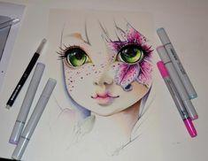 ArtStation - Frozen Lily / Frozen Flowers / Copic Marker, Lighane's Artblog