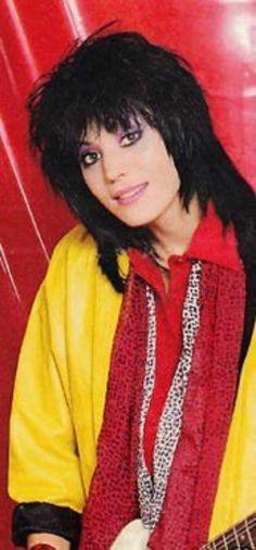 Joan Jett rocking yellow and red! Joan Jett, Cherie Currie, Frankie Magazine, Pat Benatar, Women Of Rock, Rocker Girl, Most Beautiful Women, Running Away, Rock And Roll