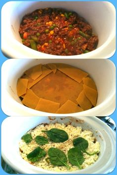 Wholemeal, kangaroo, chia-enriched, slow cooker lasagna Frozen Vegetables, Veggies, Lasagne Recipes, Slow Cooker Lasagna, White Pasta, Kangaroo, Crockpot, Stuffed Peppers, Healthy Recipes