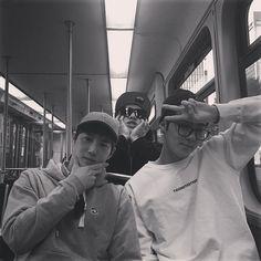 "Chanyeol, Suho, Sehun - 160212 Instagram account update: ""이쁜척이 과했어.. #Dallas"" Translation: ""I tried too hard to look pretty.. #Dallas"" Credit: real__pcy."