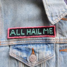 All Hail Me Veruca Salt Inspired Embroidered Sew by radboutiqueuk
