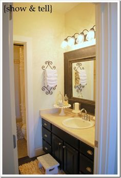 How to build a chunky frame for bathroom builder grade mirror!