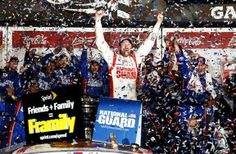 A Joyous Dale Earnhardt Jr. Holds On for His Second Daytona 500 Victory | Fan4Racing  http://fan4racing.com/2014/02/24/a-joyous-dale-earnhardt-jr-holds-on-for-his-second-daytona-500-victory/  Dale Earnhardt Jr., driver of the #88 National Guard Chevrolet, celebrates in Victory Lane after winning the NASCAR Sprint Cup Series Dayton...
